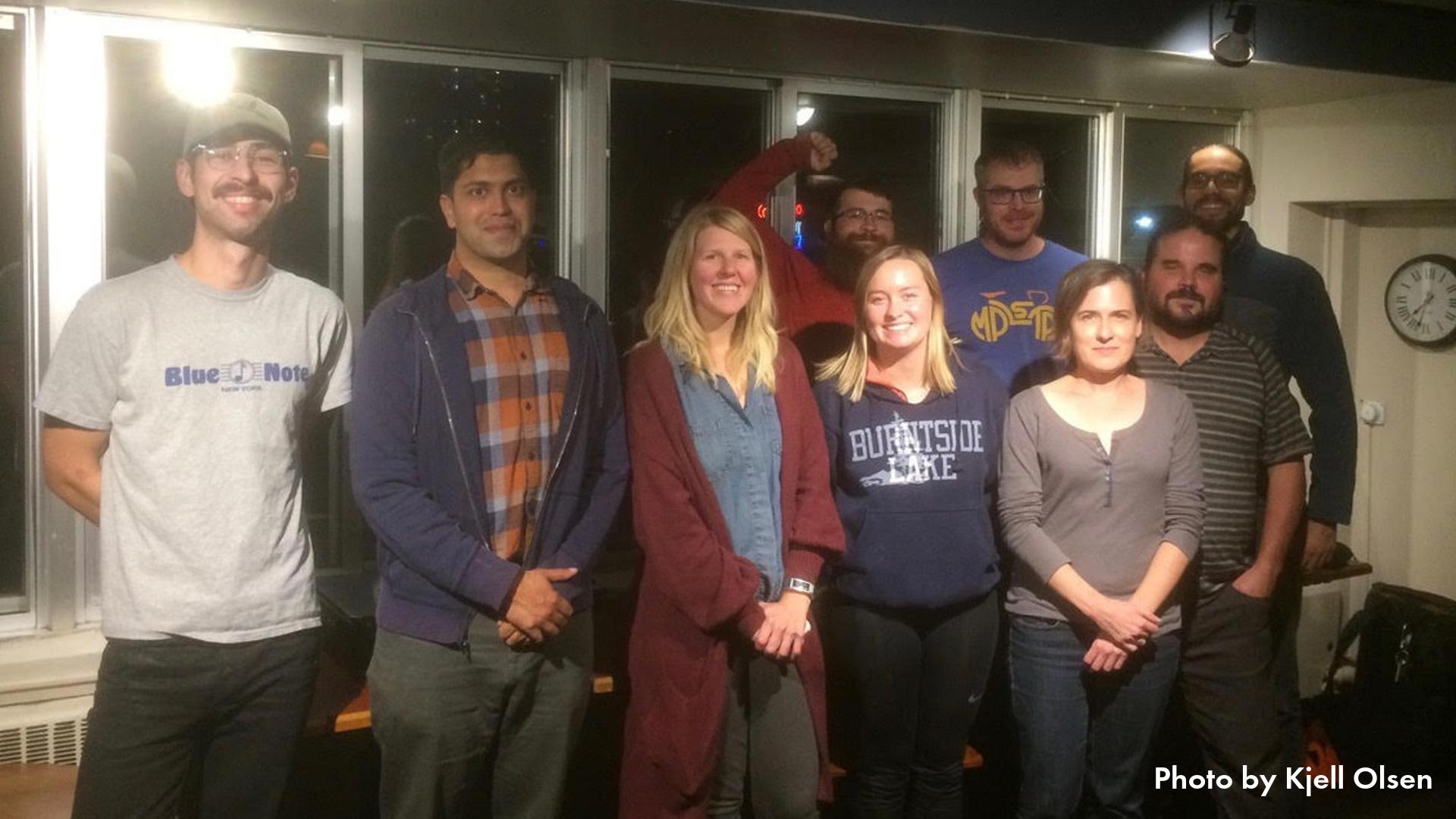 Downtown Bikeways Work Group members at their October 2019 meeting
