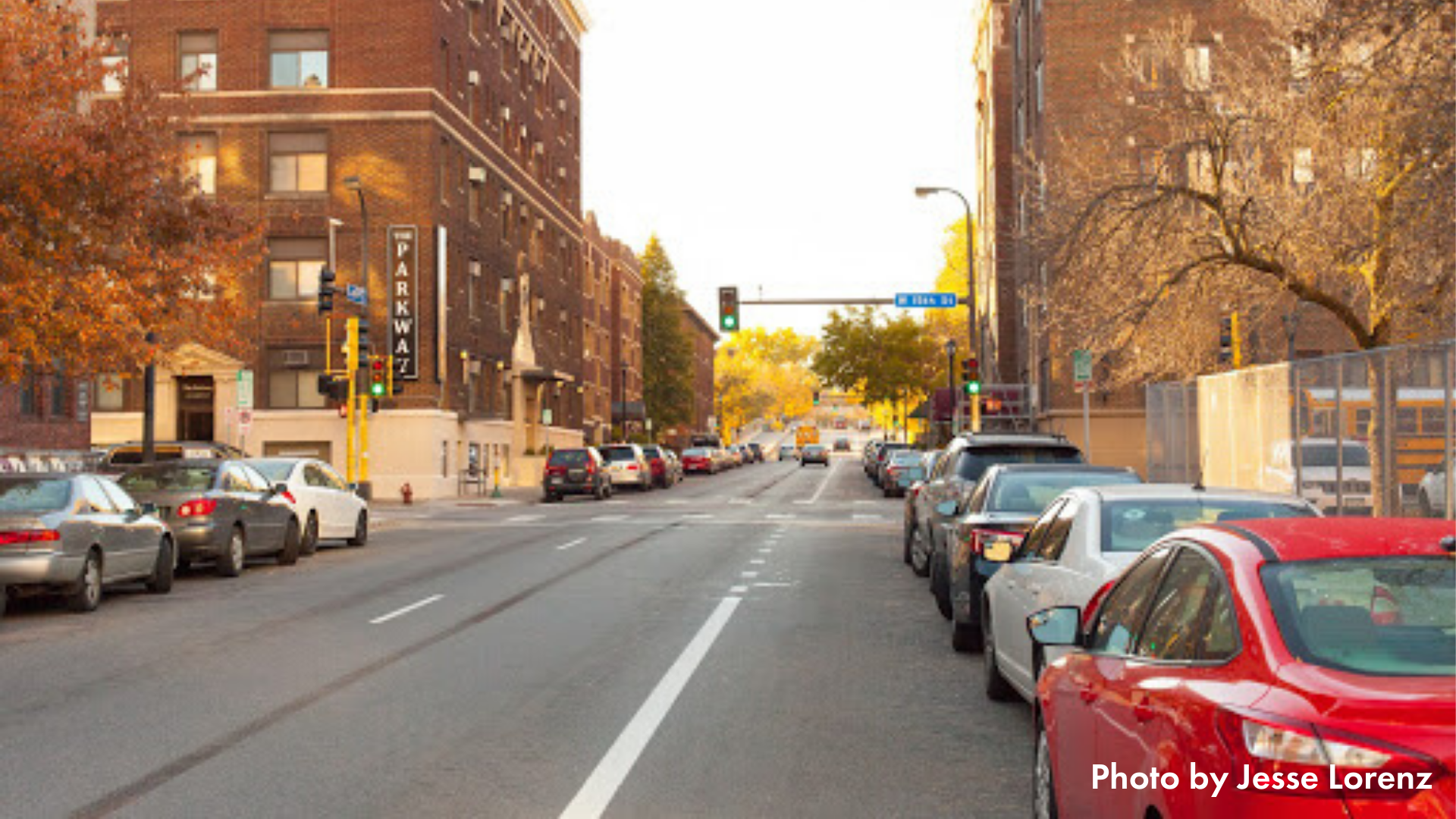 Photo of Lasalle Ave in downtown Minneapolis looking toward the south