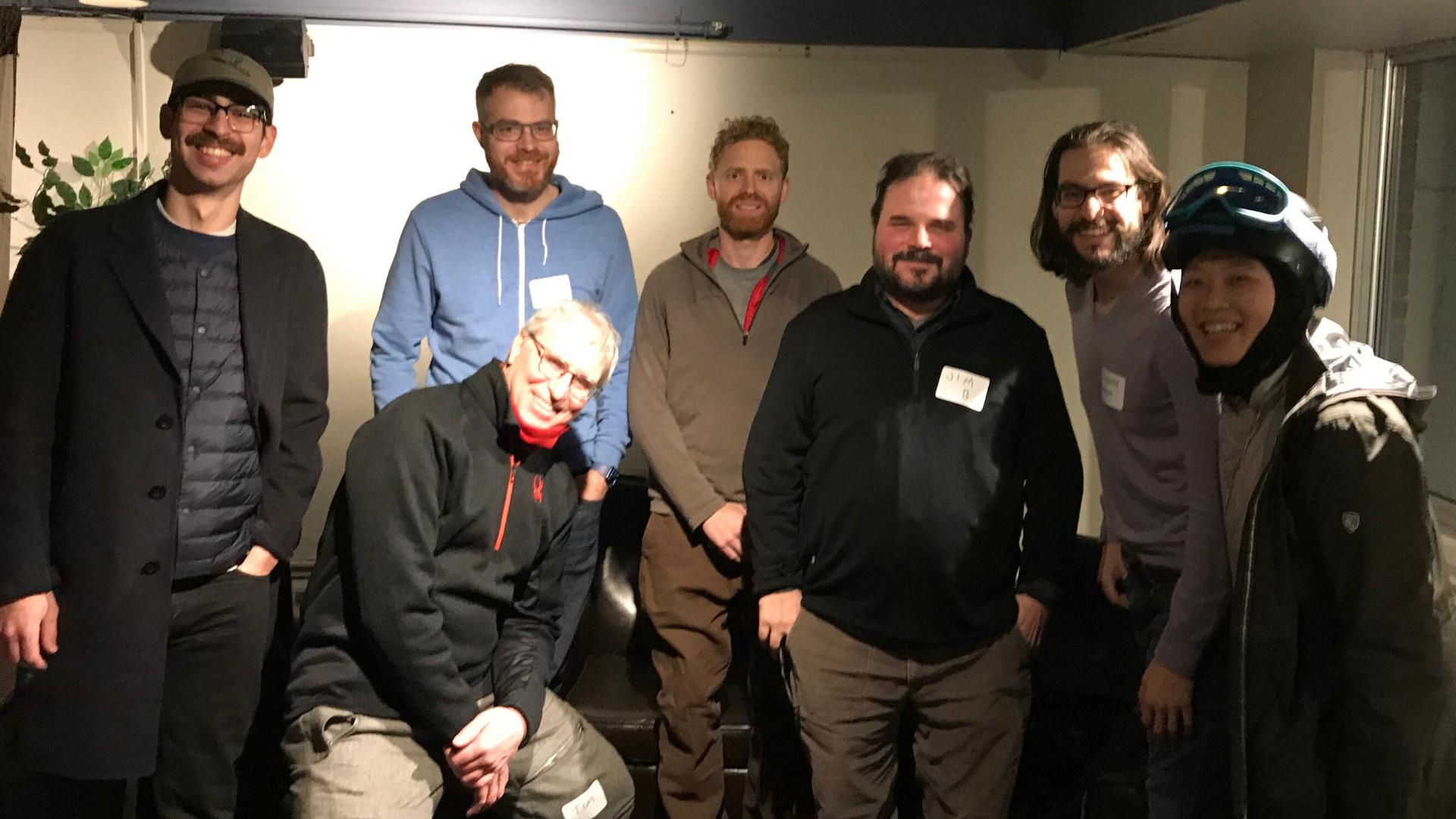 Downtown Bikeways volunteers at their January 2020 meeting