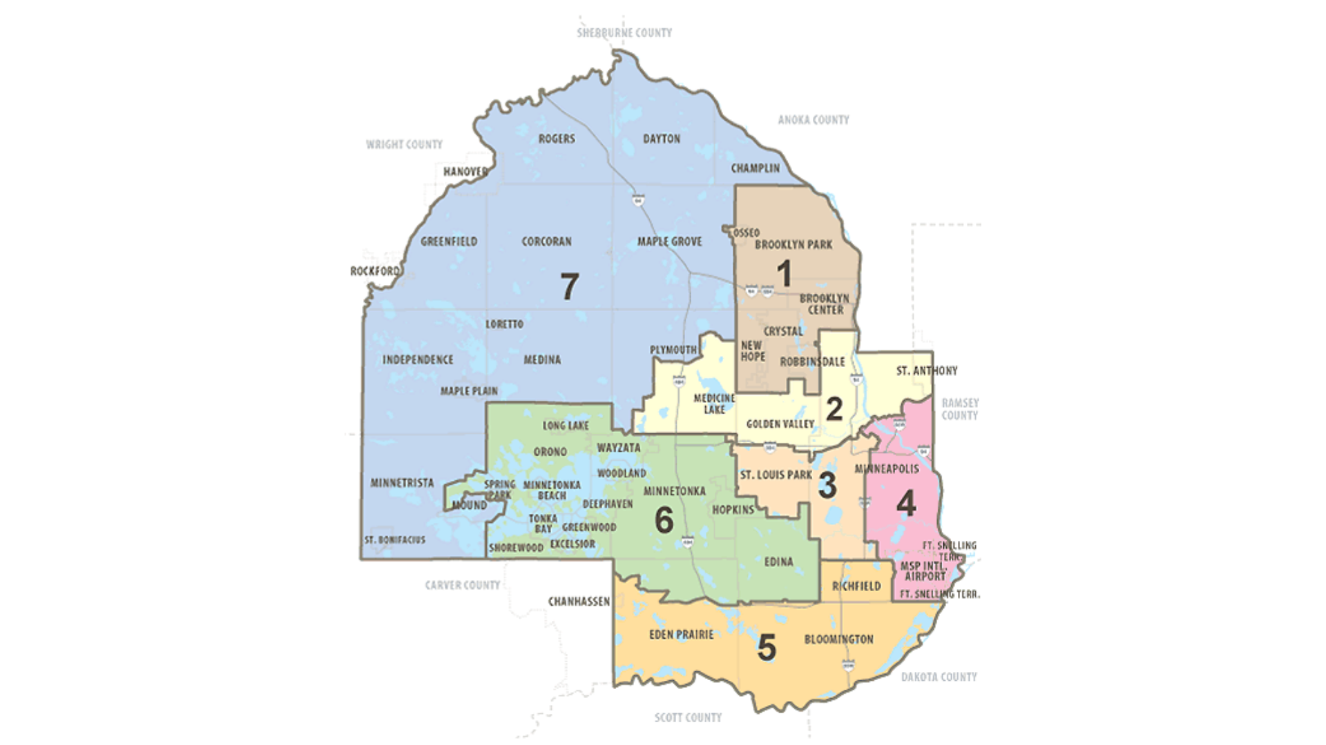Hennepin County Commissioner Map