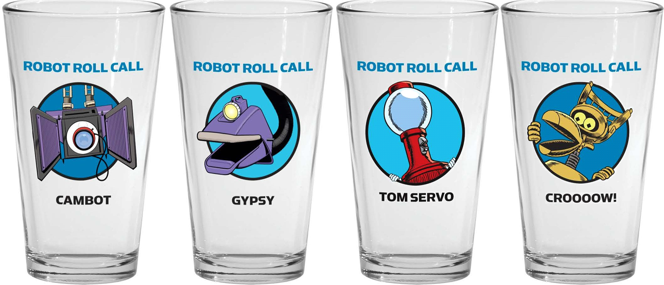 Robot Roll Call Pint Glass Set