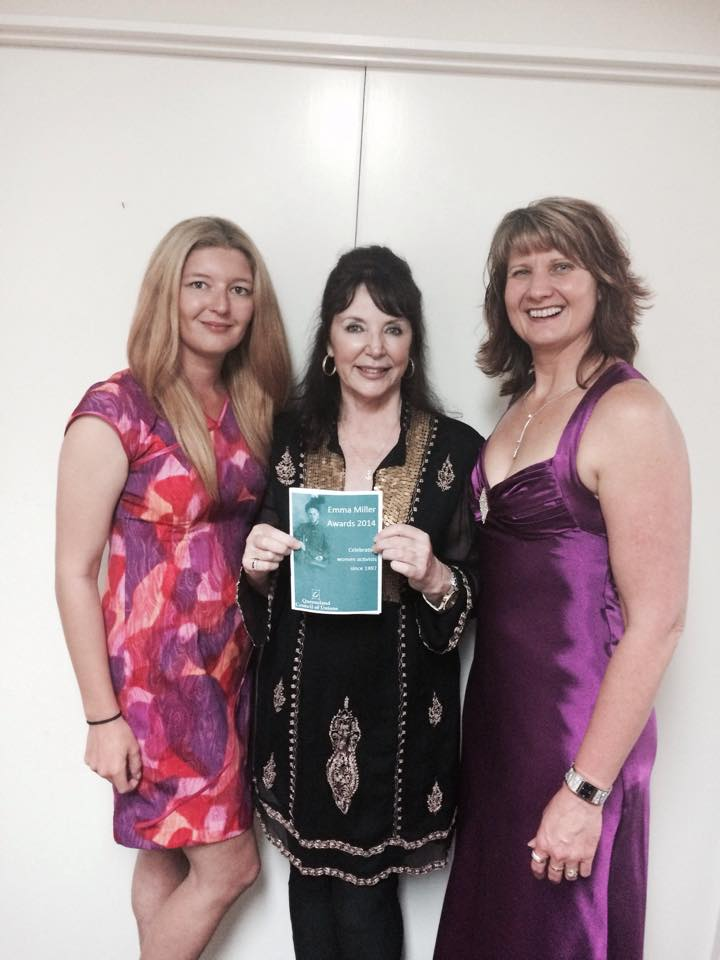 Photo: Sarah Maguire, Ann Grey and Lyza Rooks at the Awards
