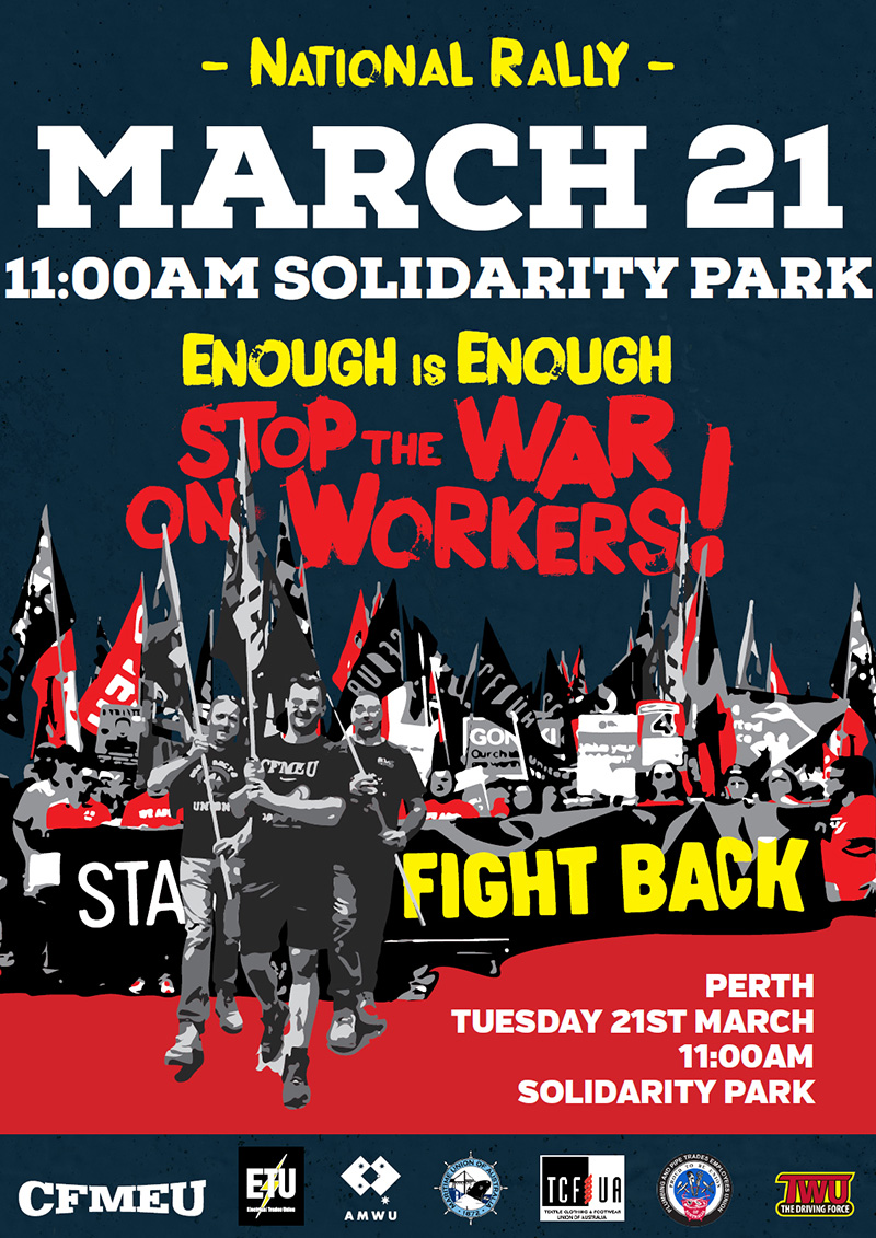 stop the war on workers national rally maritime union of australia