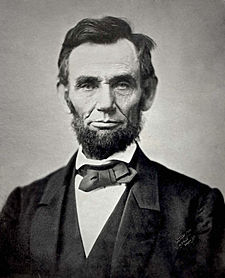 Abraham Lincoln in 1863 at the age of 54