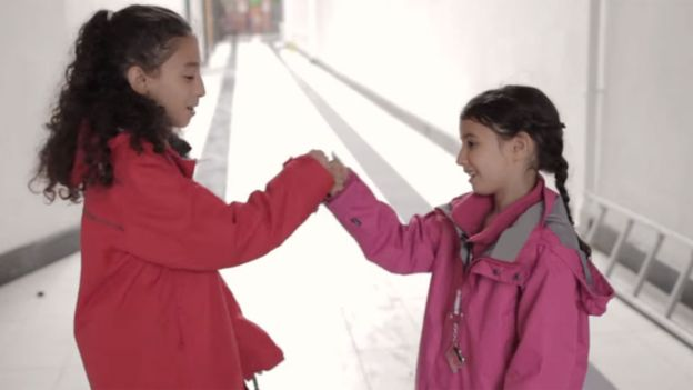 Hoda El Soudani's film 'Why can't I be a Sushi?' features sisters Nimah (left) and Sofia