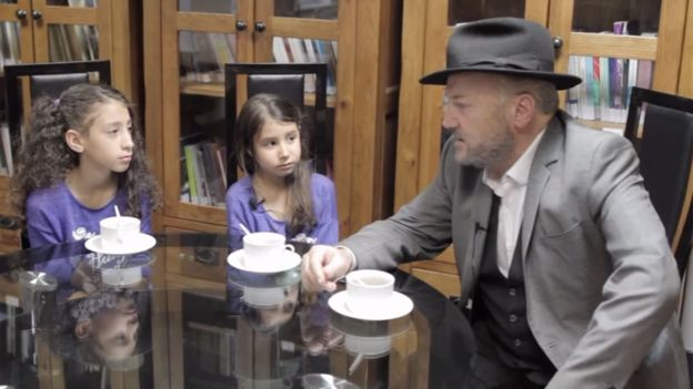 Photo:HODA EL SOUDANI UK politician George Galloway is quizzed during the film