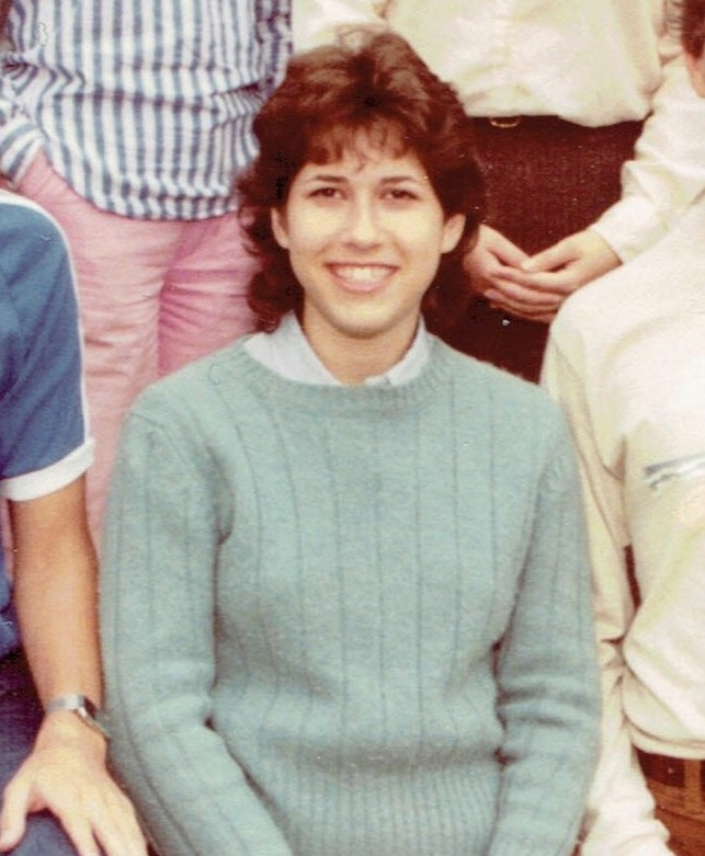 Carol Zall age 17. This is cropped from a group photo of 12th graders at the Charles E. Smith Jewish Day School of Greater Washington. Credit: Courtesy of Carol Zall