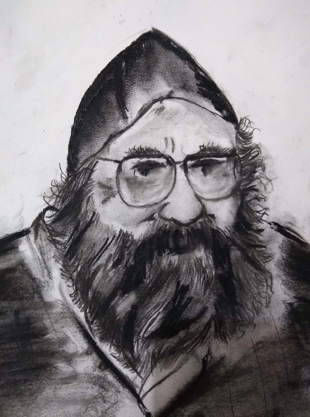 Khushwant Singh, Sketch drawn by Aseem Sundan