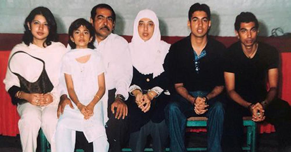 A pair of second-generation Singaporean-Pakistanis (in the middle) with their four children. This photograph was taken in the 1990s. | Nasyirah Parveen