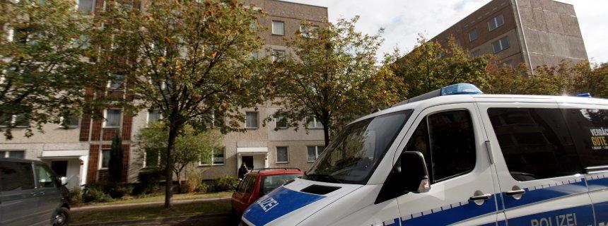 The apartment building where Syrian terror suspect Jaber al-Bakr was arrested.