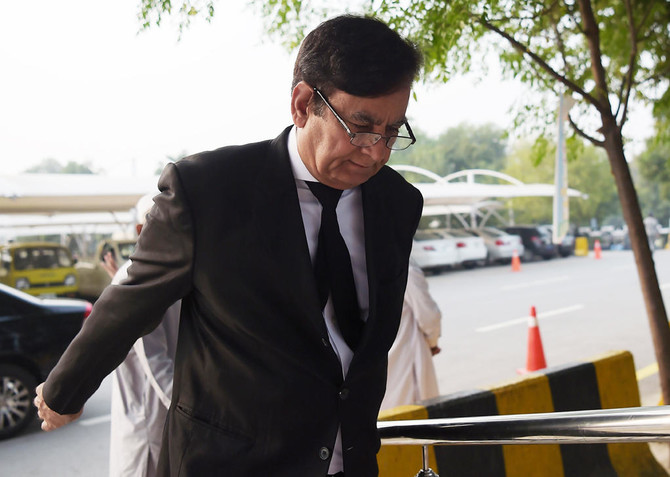 Saif-ul-Mulook, a Pakistani lawyer for Christian mother Asia Bibi, arrives at the Supreme Court in Islamabad on October 31, 2018. Pakistan's Supreme Court on October 31 overturned the conviction of a Christian mother facing execution for blasphemy in a landmark case which has incited deadly violence and reached as far as the Vatican. (AFP / AAMIR QURESHI