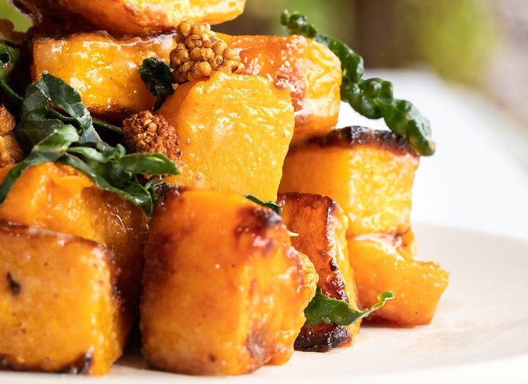 Bring the roasted butternut squash from Flower Child and you'll be a hero.