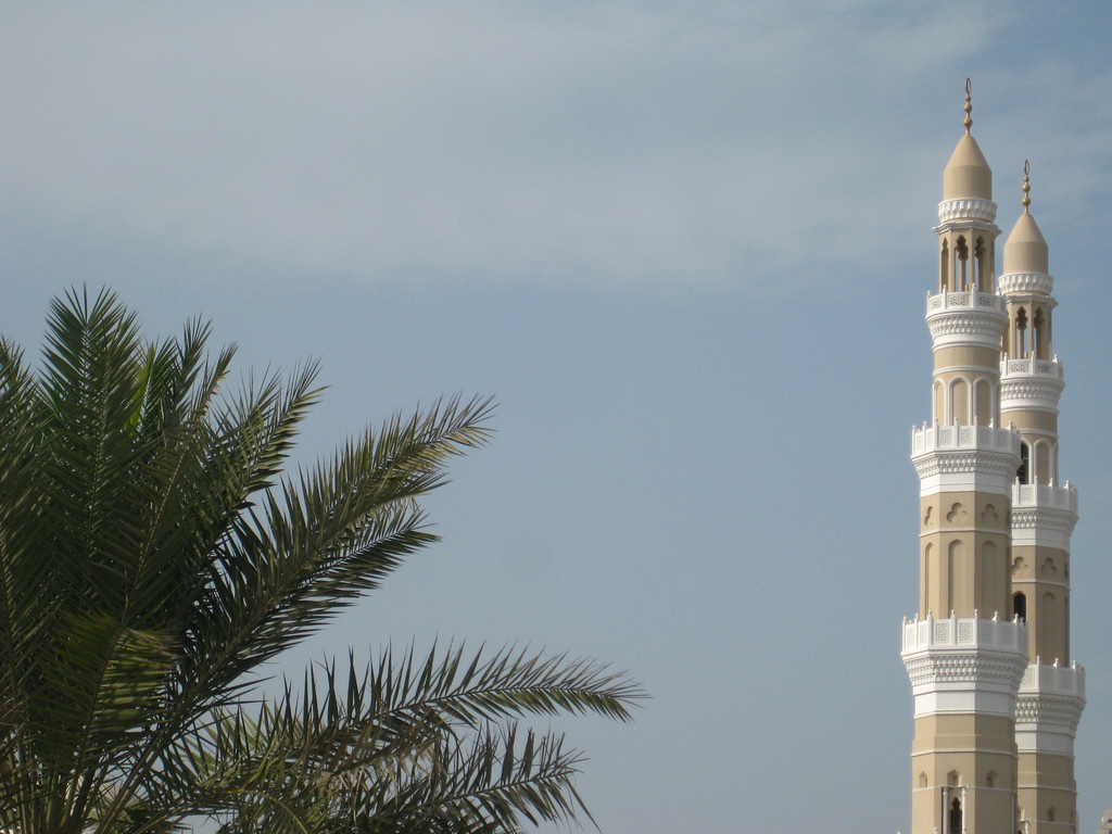 Bahrain: Minarets and Palm Trees