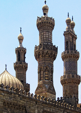 Minarets of Al-Azhar Mosque, Cairo, Egypt (photo: Ahmed Al.Badawy