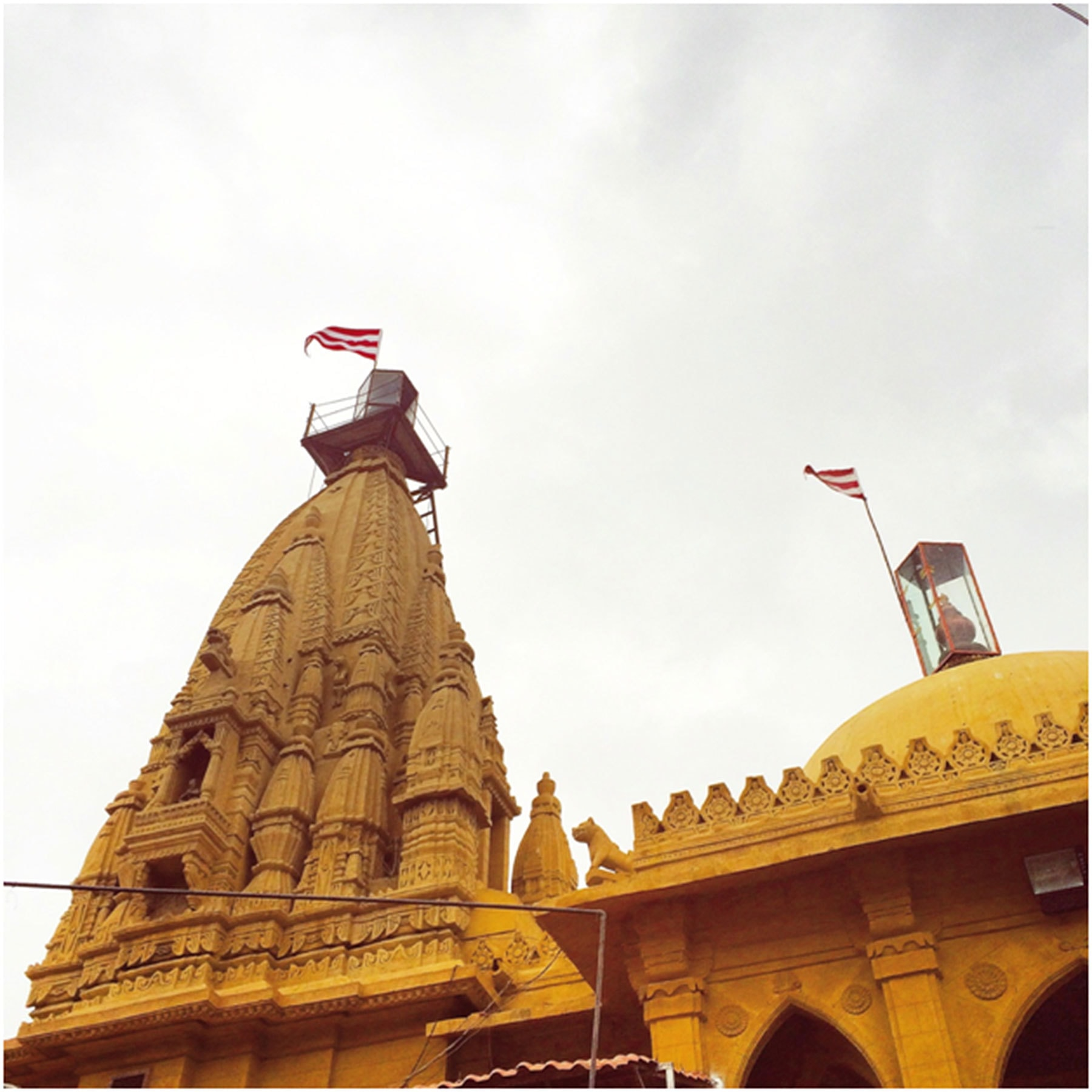 The Swaminarayan Hindu Temple, also known as the Lighthouse Mandir.