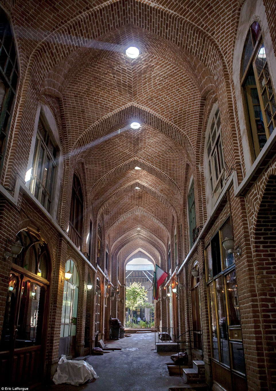 Rays of light inside the Old Bazaar, Tabriz. It is one of the oldest bazaars in the Middle East and the largest covered bazaar in the world