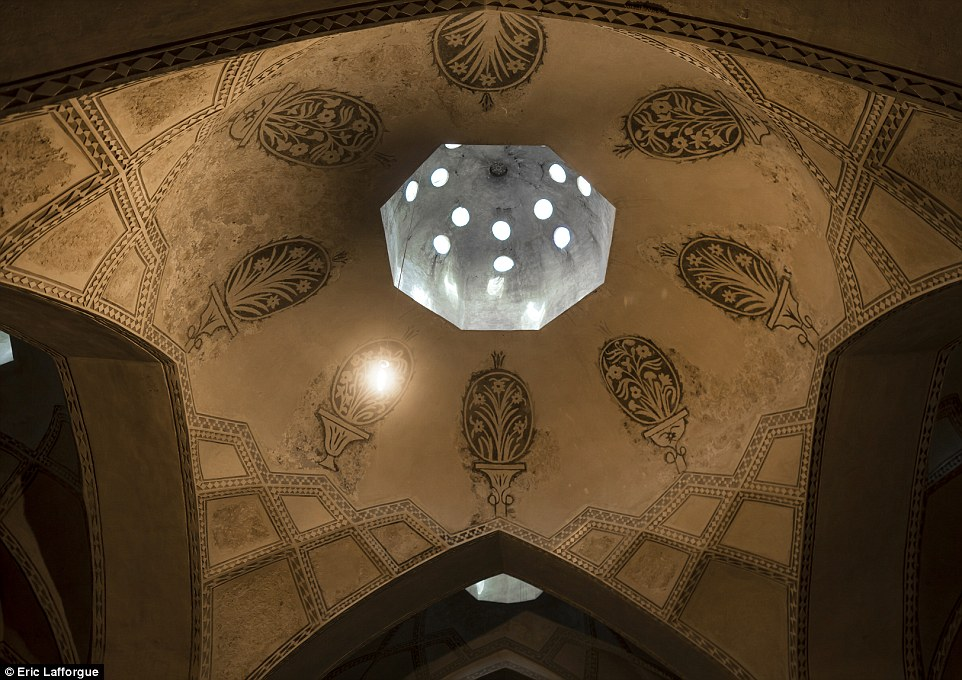 The ceiling in Hamman-e Vakil Bath Isfahan.Vakil Bath is an old public bath in Shiraz, that was constructed in the mid-1700s