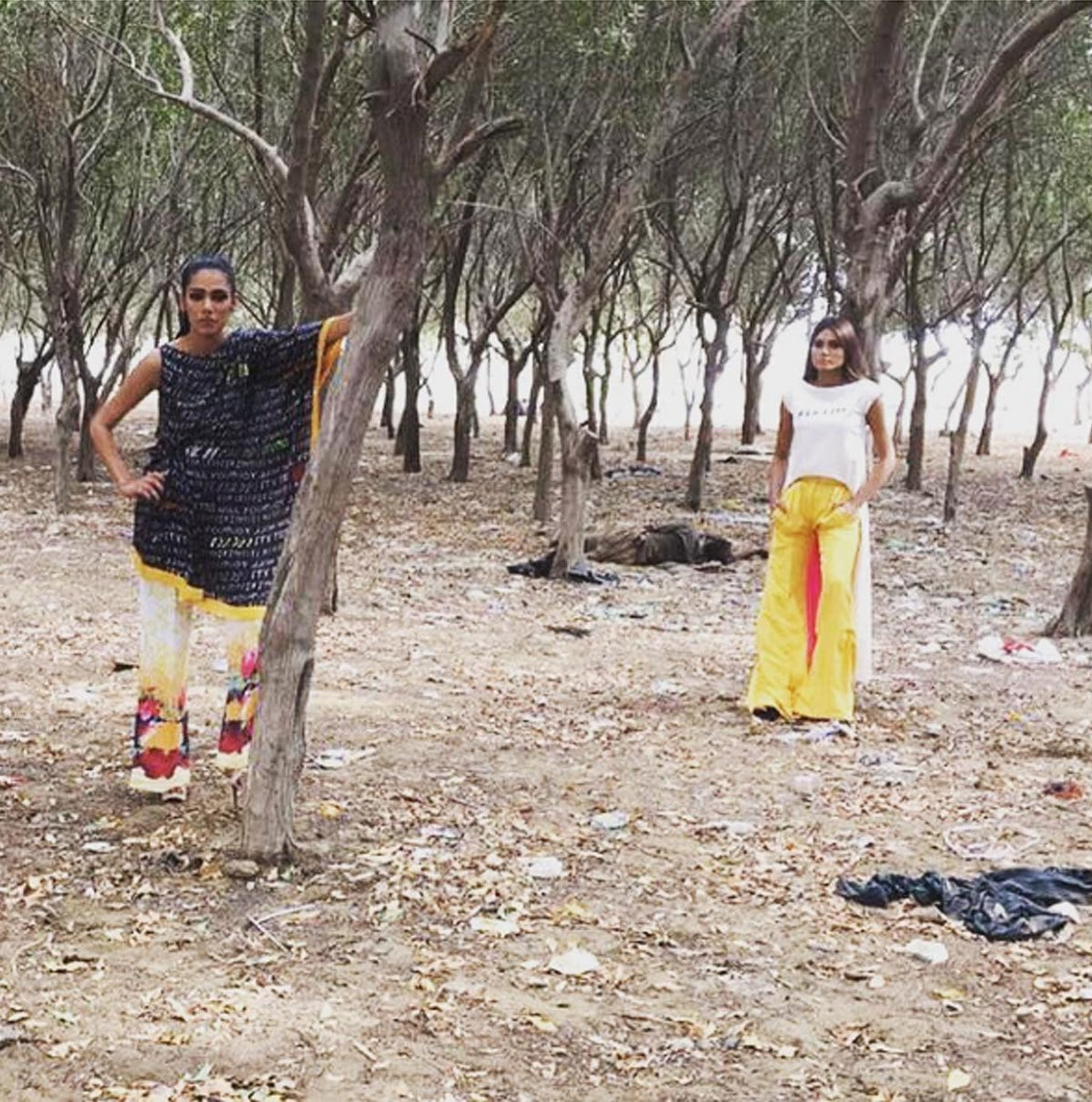 Behind The Scenes from #DeepakPerwani's latest collection FIX IT being shot with #FayezahAnsari and #ZaraAbid. They are shooting all over Defence, #Karachi in some exciting new spaces - Instagram