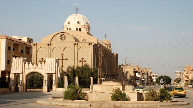 Assyrian Church in Al-Hasakah, Syria,