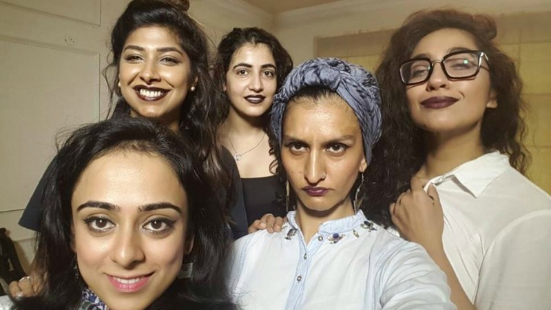 Budding filmmaker Anam Abbas (fourth from left) takes on the patriarchy and the ridiculous standards women are forced to conform to