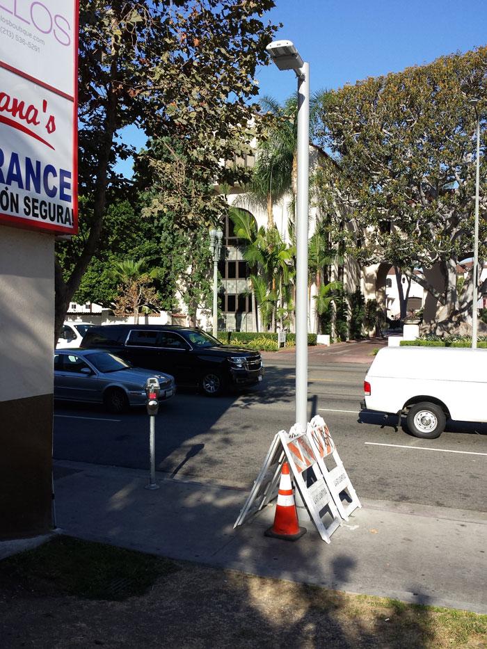 New Pedestrian Lighting on Figueroa Street