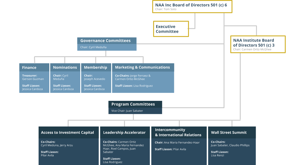 NAA Leadership Organizational Chart