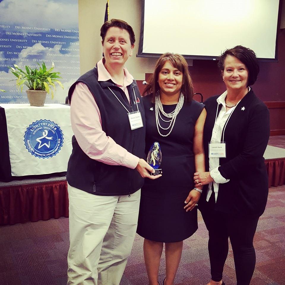 Dr. Sharon Duclos, Co-Medical Director, PCHC; Nilani Downs, American Cancer Society; Lanett Kane, RN, BSN, Quality Director, PCHC