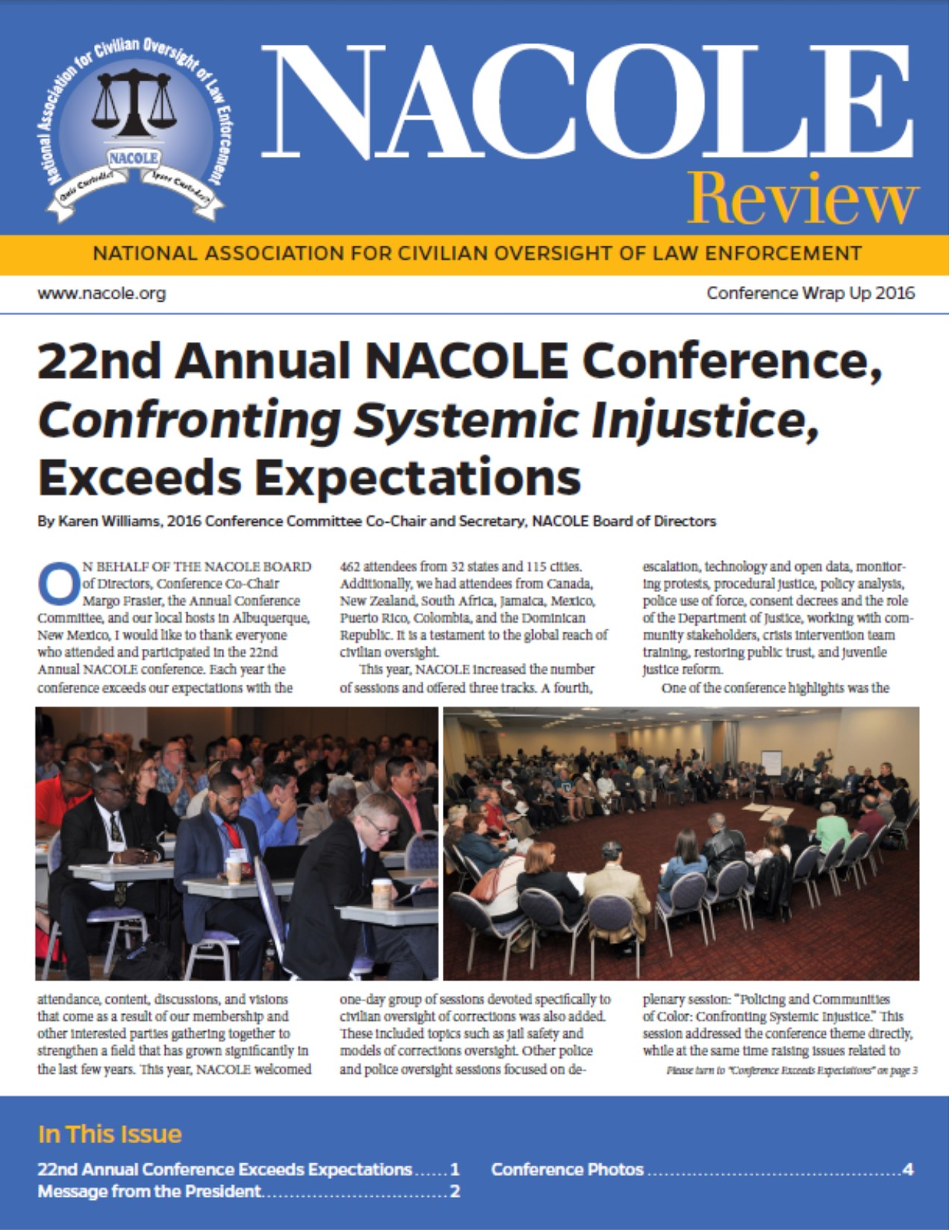 2016 Annual Conference Wrap-Up Edition