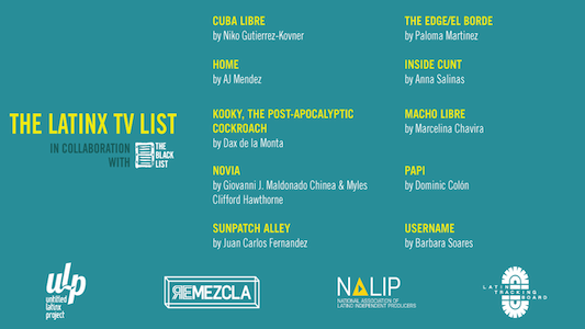 Announcing the Inaugural  Latinx TV List Writers!