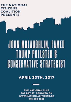 The NCC Presents: John McLaughlin, Conservative Political Strategist, April 20th 2017