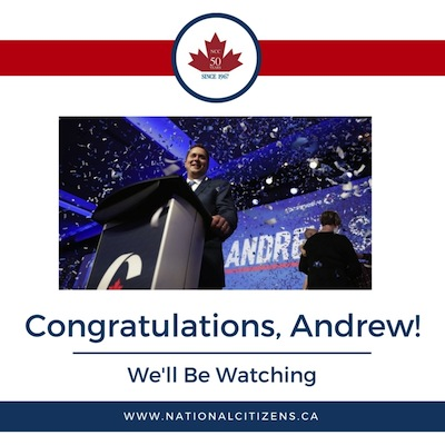 Congratulations to Andrew Scheer from the NCC