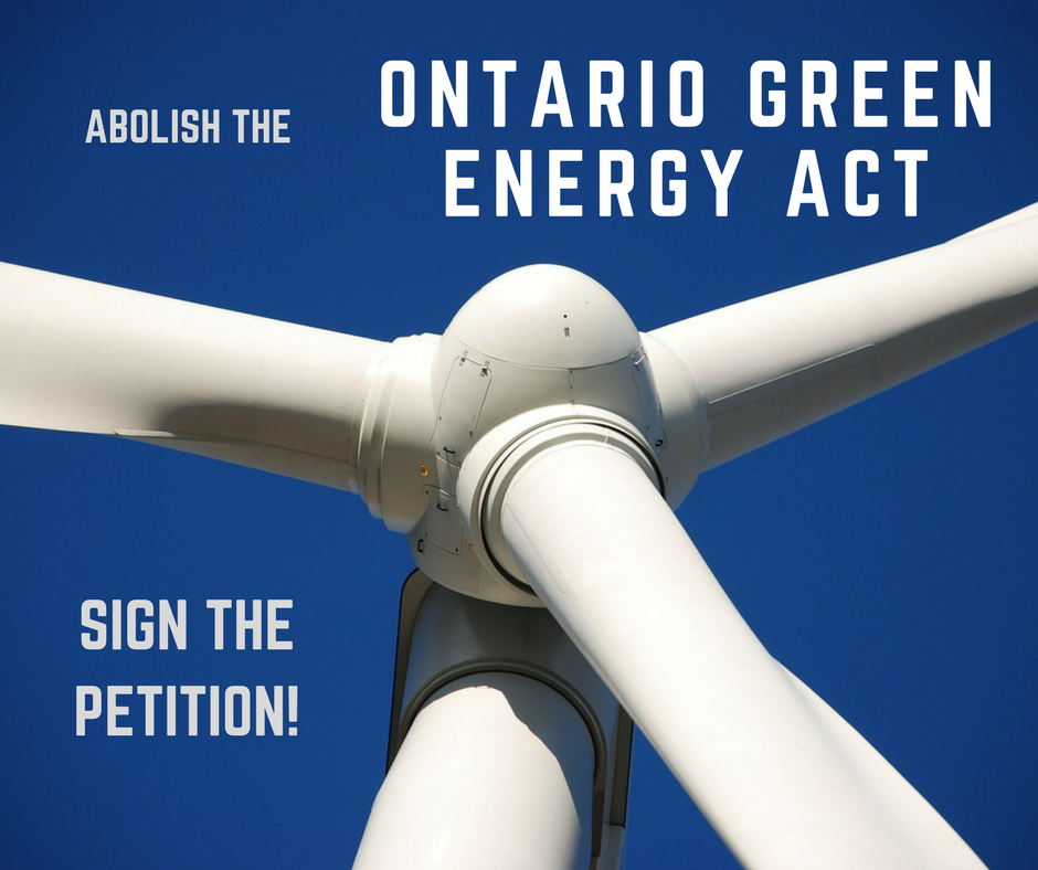 Abolish the Ontario Green Energy Act