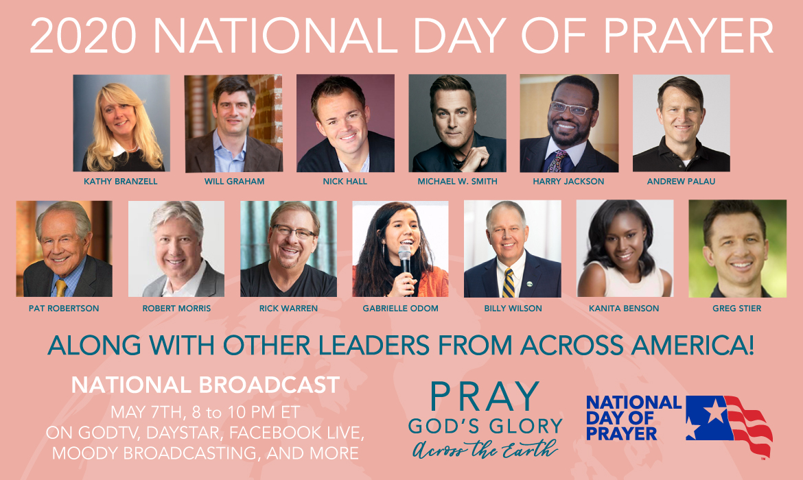 2020 National Day of Prayer Event Broadcast Promotion Banner
