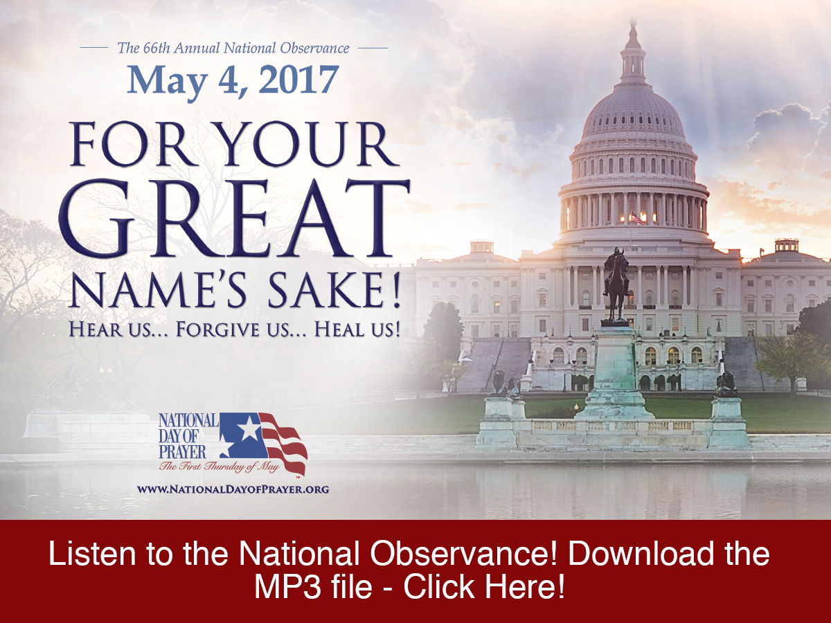 Our National Day of Prayer Event in Washington DC