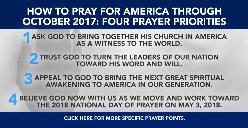 Pray for America Through October 2017 - Click Here!