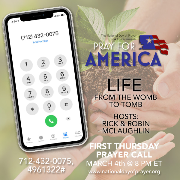 Pray with us this Thursday evening at 8 pm ET!