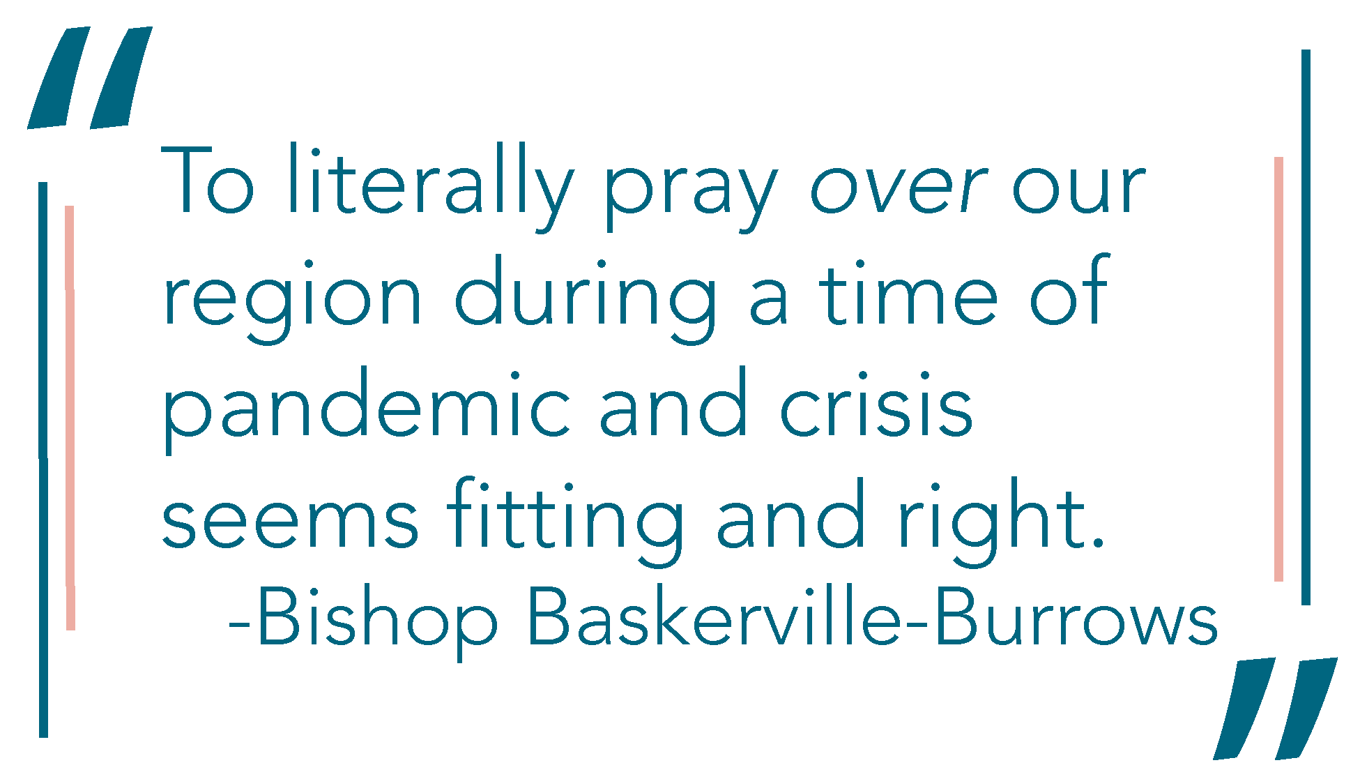 Graphic quote from Bishop Baskerville Burrows that says \