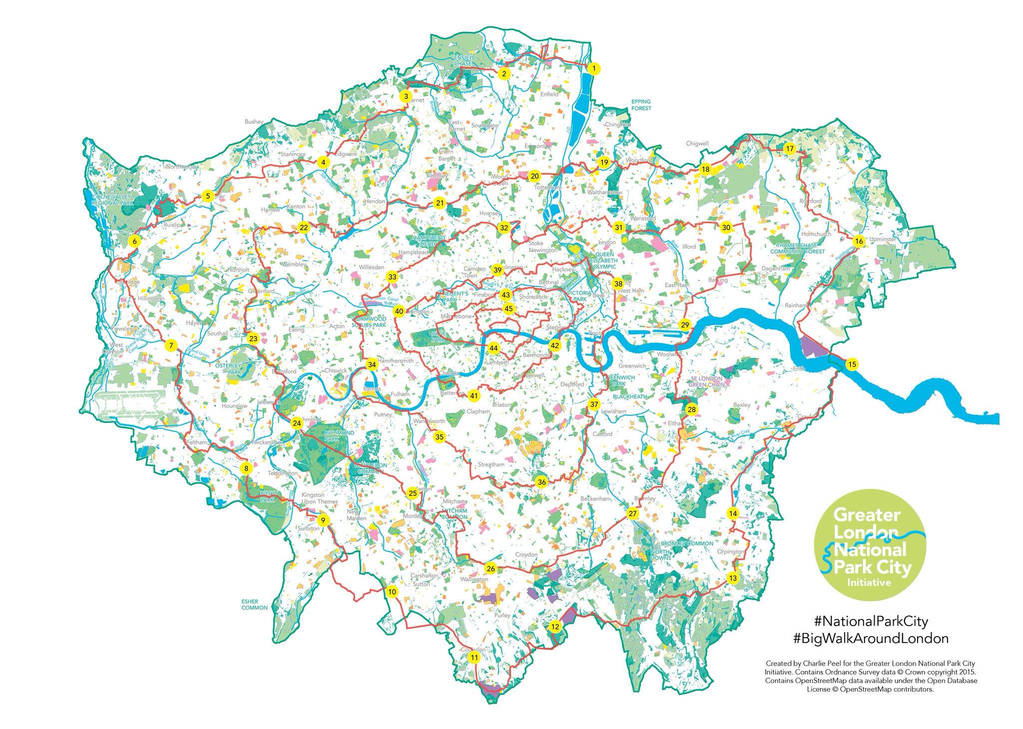 Big Walk Around London Greater London National Park City