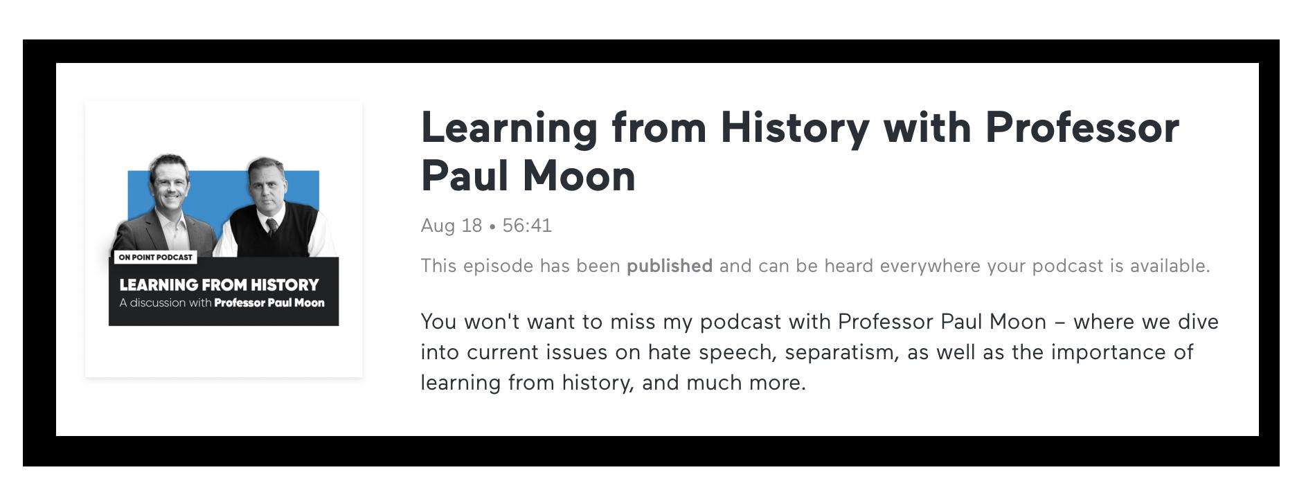 Paul Moon On Point with Simon O'Connor