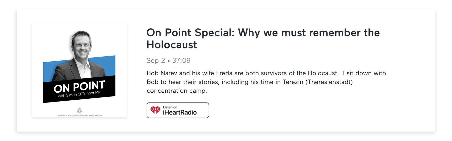 Episode 19 On point Why We Must Remember the Holocaust