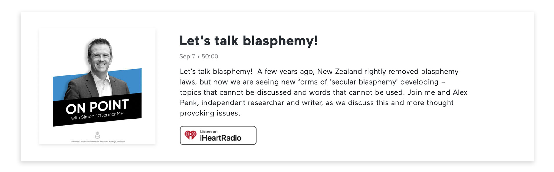 Episode 20 On Point with Alex Penk on Blasphemy