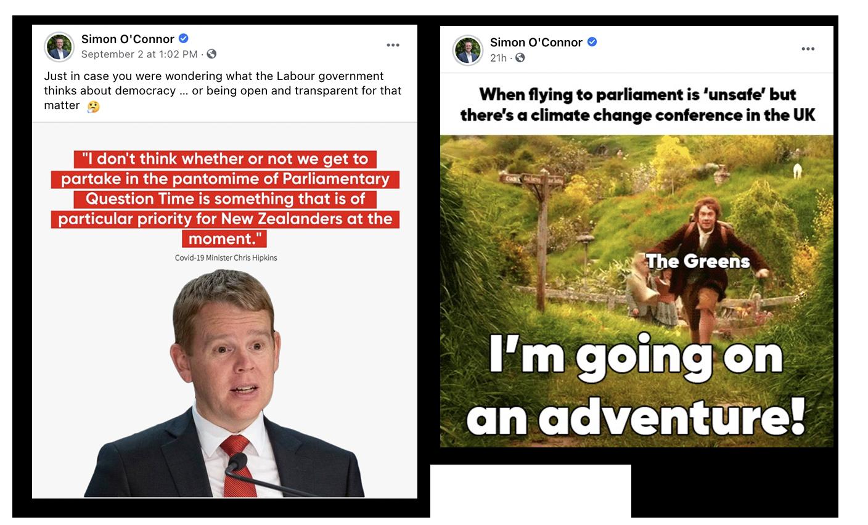 Simon O'Connor MP for Tamaki Facebook Posts
