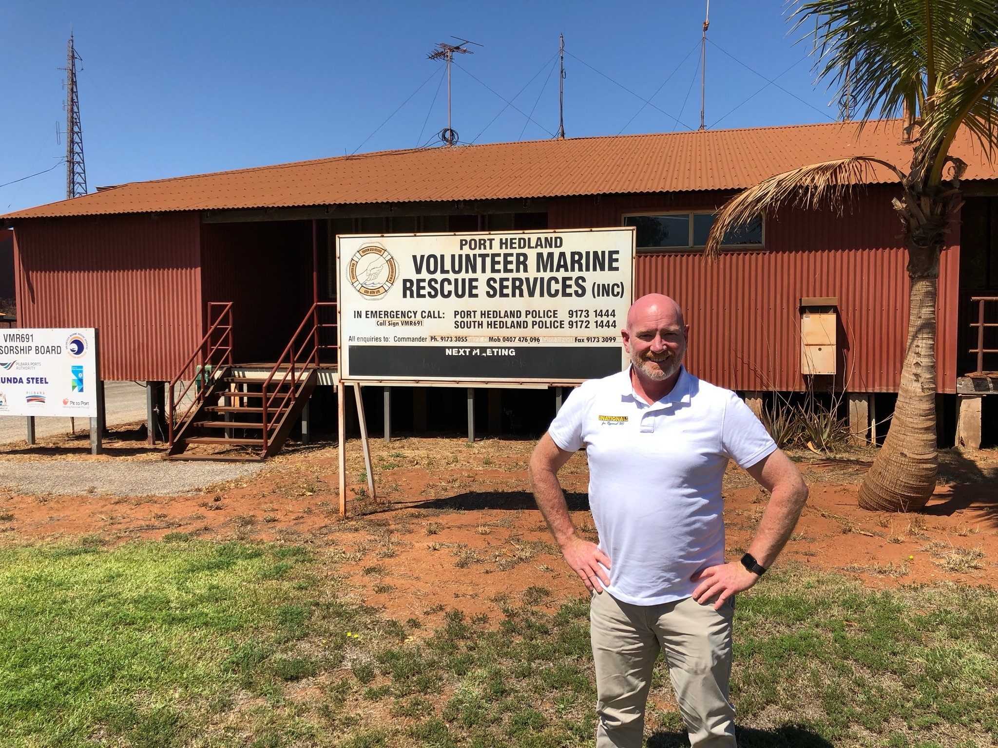 Colin de Grussa MLC was barred from meeting with the Port Hedland Volunteer Marine Rescue Service while visiting the Pilbara this week.