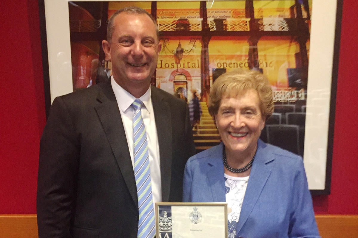 Service Award for Mrs. Pamela deBoer