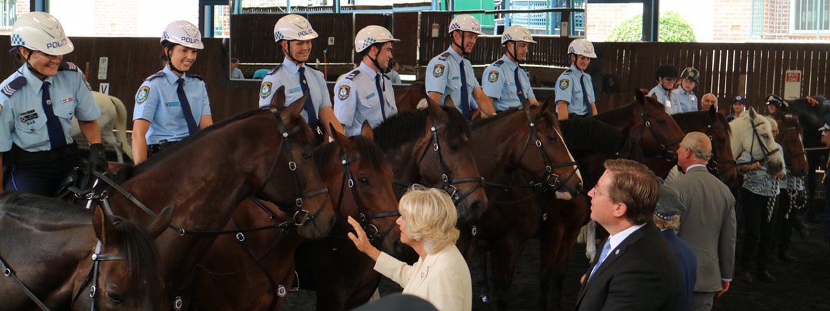 Prince Charles celebrates Mounted Police Unit
