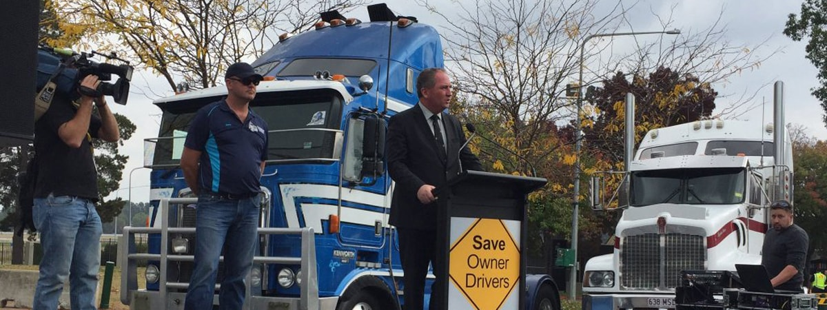 Rally for truckies lightens their load