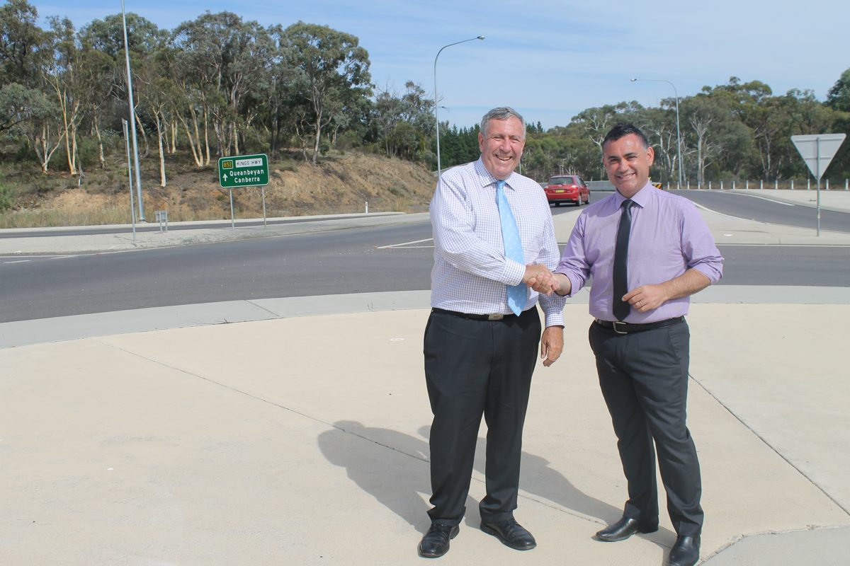 Delivering an extra $30 million for major roads in the Monaro