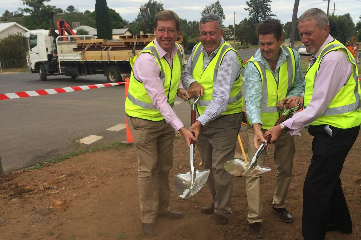 Bridges For The Bush: First Sod Turned on Gunnedah Second Road Over Rail Bridge