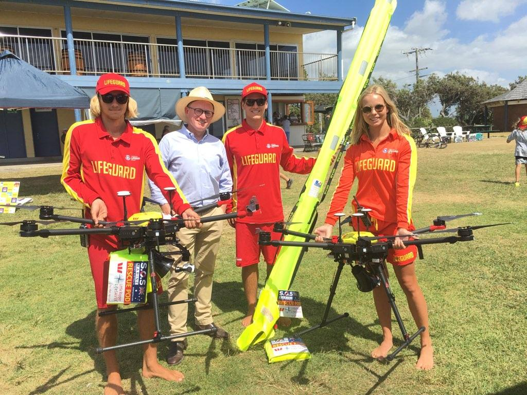 Drone saves two swimmers' lives at Lennox