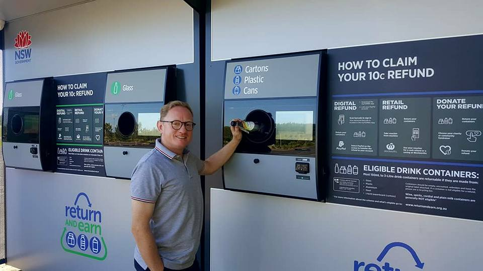 Return and Earn reverse vending machine to open at Byron Bay